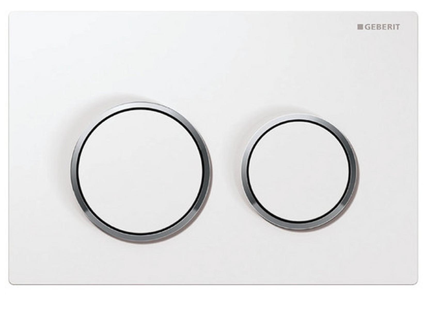 geberit bet tigungsplatte omega20 wei chrom f r 2 mengen sp lung dr ckerplatte ebay. Black Bedroom Furniture Sets. Home Design Ideas